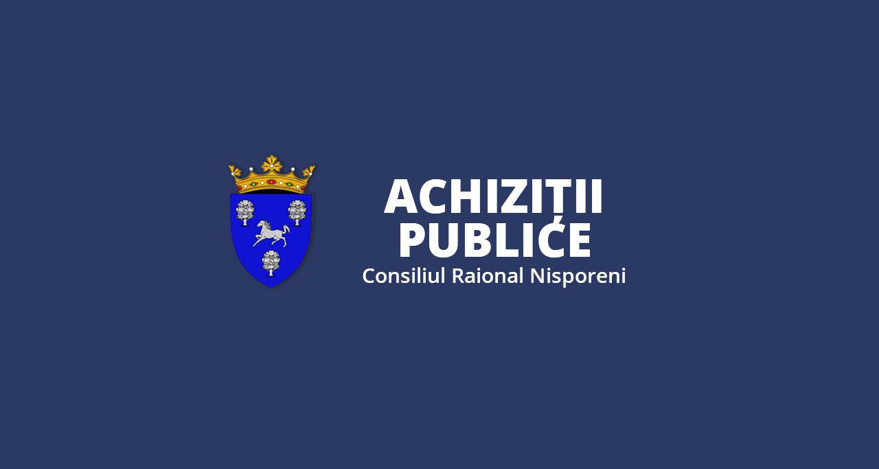 Planul de Achiziții al Consiliului raional Nisporeni, pentru anul 2021 (modificat).