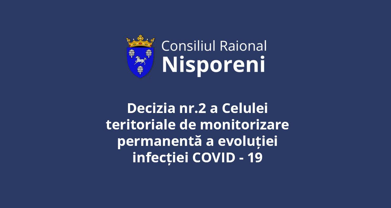 DECIZIA nr.2 a Celulei teritoriale de monitorizare permanentă a evoluției infecției COVID -19