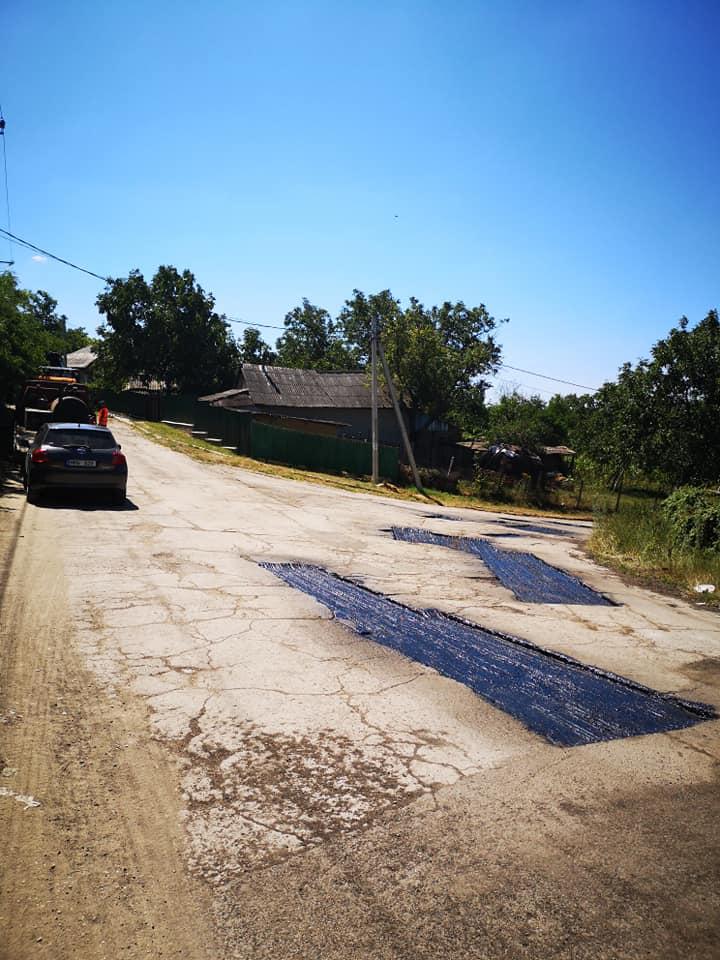 Monitorizarea lucrărilor de reparație și întreținere a drumului de acces spre s. Vînători.