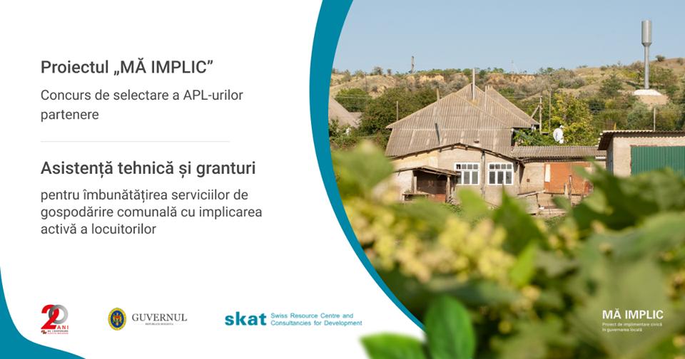 Granturi de 65,000 CHF și asistență tehnică pentru APL-urilor/grupuri de APL-uri partenere în cadrul proiectului MĂ IMPLIC!