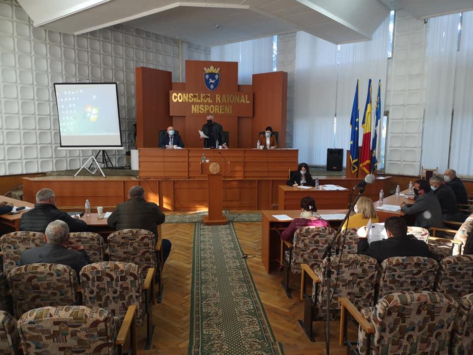 Ședinţa extraordinară a Consiliului raional Nisporeni din 23 octombrie 2020.
