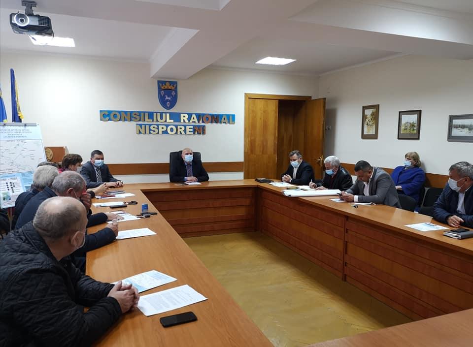 """Lansarea realizării proiectului de aprovizionarea cu apă potabilă a 24 localități din raioanele Ungheni și Nisporeni, din sursa SC """"APAVITAL"""" SA, Iași."""