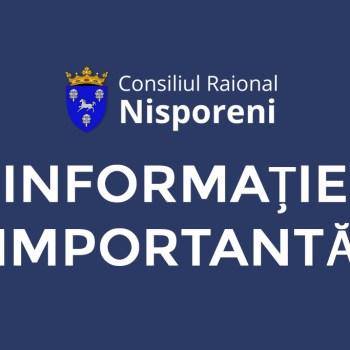 DISPOZIȚIA nr. 1 din 02 aprilie 2021 a Comisiei pentru Situații Excepționale a raionului Nisporeni.