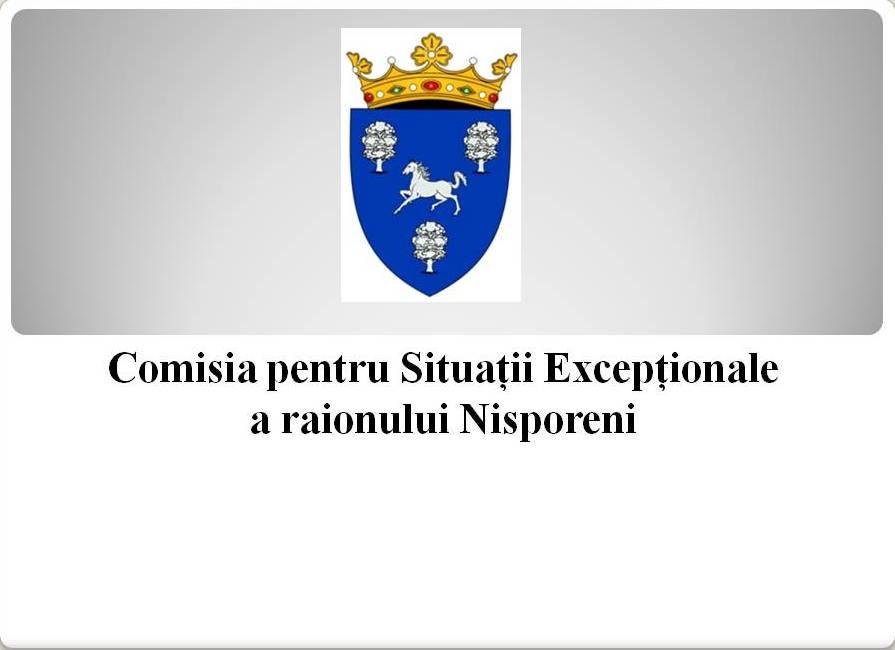 DISPOZIȚIA nr. 2 din 07 aprilie 2021 a Comisiei pentru Situații Excepționale a raionului Nisporeni.