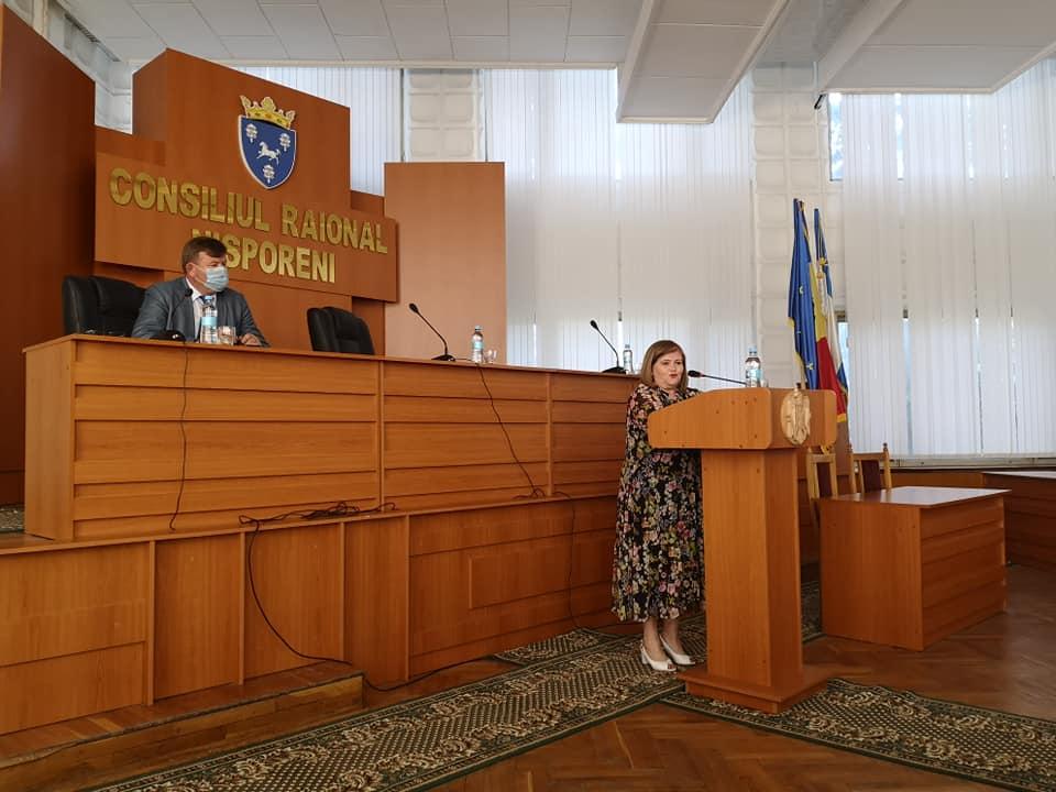 Ședința de planificare extinsă a aparatului Preşedintelui raionului şi subdiviziunilor Consiliului raional Nisporeni cu participarea și a asistenților sociali din cadrul Direcției Asistență Socială și Protecție a Familiei.